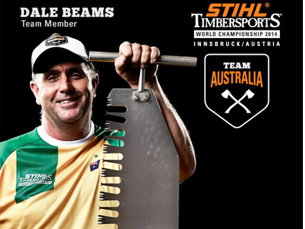 "NICKNAME: BeamieAGE: 49WEIGHT: 105kgHEIGHT: 5'11""LIVES: TasmaniaDAY JOB: Miner & Shot FirerFAVOURITE DISCIPLINE: Standing BlockFAVOURITE CHAINSAW: MS 660FAVOURITE AXE: TuatahiBEST SUCCESS SO FAR: Winning the 375 Standing Block at the World ChampionshipTIMBERSPORTS WORLD SERIES: 2014 is the first!"