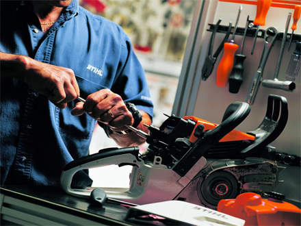 : REASON #4A STIHL Dealer's service department is staffed with Trained Technicians.