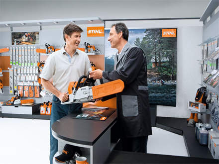 """: REASON #6At a STIHL Dealership, products are assembled and serviced and not sold """"in a box."""""""